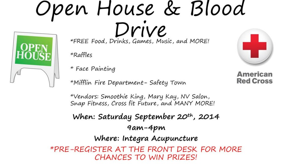 Open House & Blood Drive