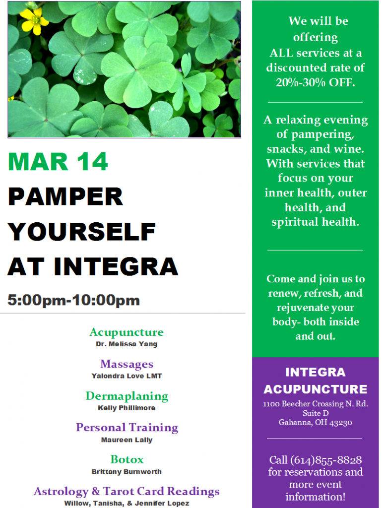 Pamper Yourself Flyer March 14 PNG File